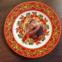 Печать на тарелке